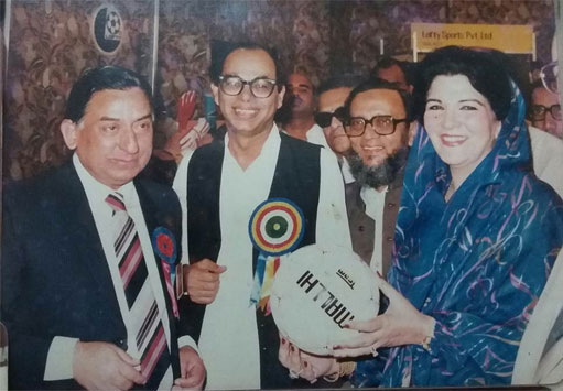 Fedral Ministers of Pakistan Appreciating our Soccer ball and nominating our Soccer ball for best Quality and Brand of the year Award in 1983